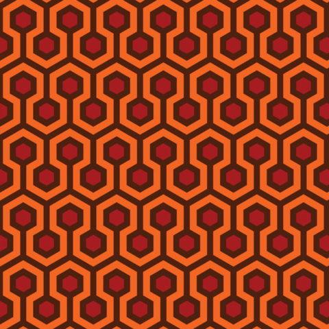 texture che si ispira ala famosa moquette di del film Shining